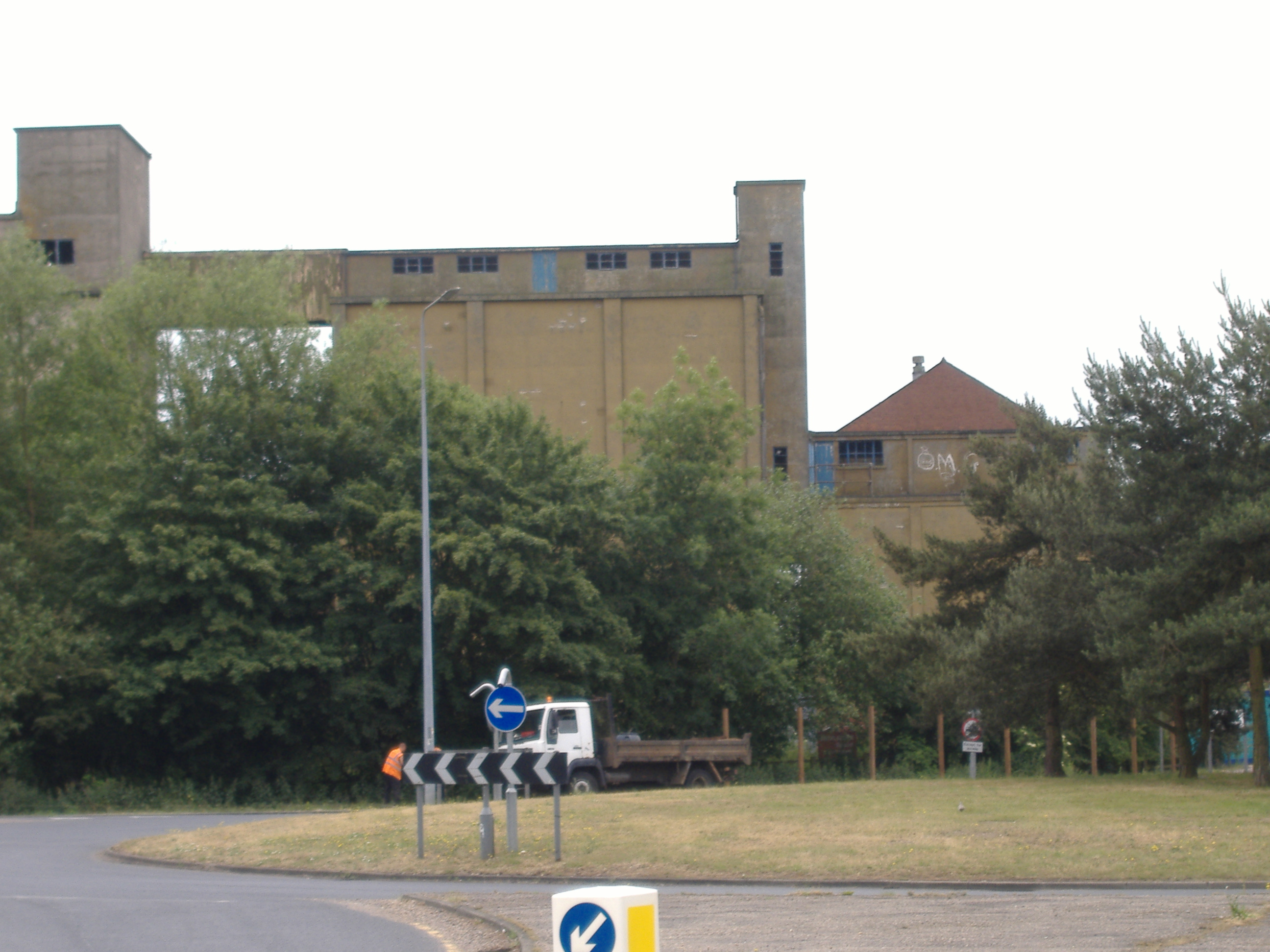 Photograph of the Old Maltings from Chicken Roundabout