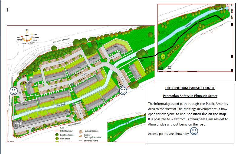 Pirnough Street Footpath Map