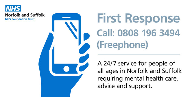 First Response helpline call 0808 1963494 (freephone)